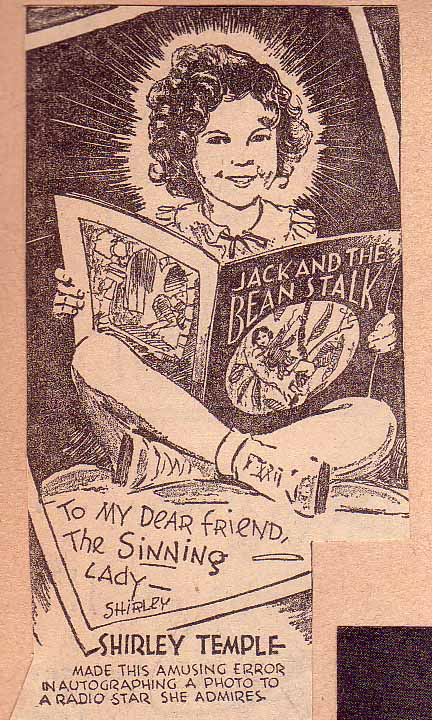 Shirley Temple cartoon from the 1930s!
