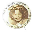Genuine Shirley Temple doll pin